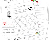 Letter U Worksheets