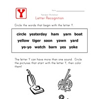 Words that start with the letter Y