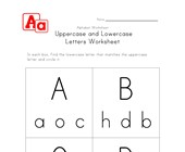 uppercase lowercase worksheet a-d