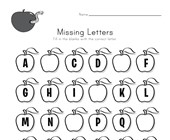 Apple Missing Letters Worksheet