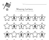 Patriotic Missing Letters Worksheet