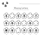 Spring Missing Letters Worksheet