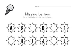 Summer Missing Letters Worksheet