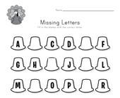 Thanksgiving Missing Letters Worksheet
