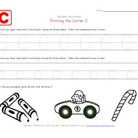 Traceable Alphabet Letter C