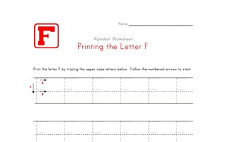 Traceable Letter F