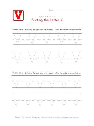 Traceable Letter V   Preschool Alphabet Pages   All Kids Network