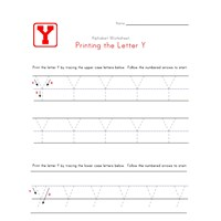 Traceable Letter Y