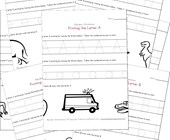 tracing letters worksheets in landscape layout