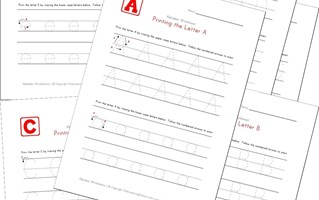 traceable letters worksheets in portrait layout