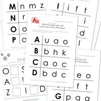 uppercase and lowercase identification worksheets
