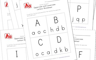 uppercase and lowercase recognition worksheets