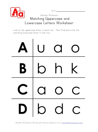 graphic relating to Upper and Lowercase Letters Printable named Alphabet Cash And Lowercase Worksheets - Illustrations or photos Alphabet