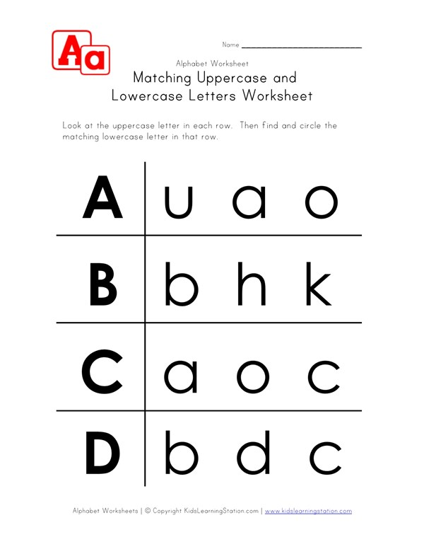 Tremendous Letter Worksheets Uppercase And Lowercase A B C And D Download Free Architecture Designs Scobabritishbridgeorg