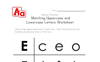 uppercase and lowercase letters worksheet e-h