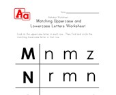 uppercase and lowercase letters worksheet m-p
