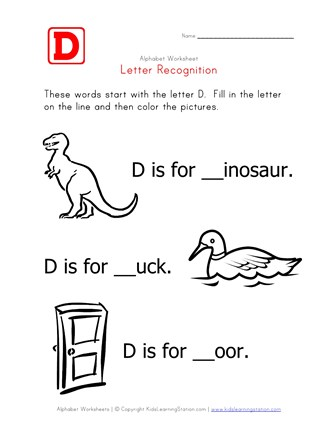 Words that start with the letter D