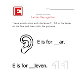 Words that start with the letter E