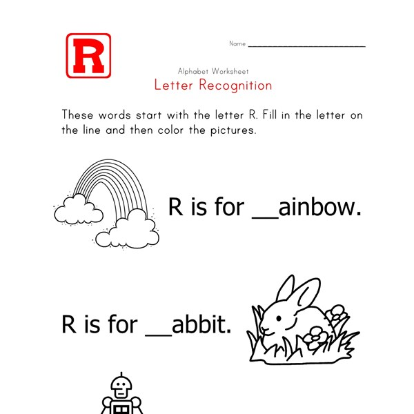 5 letter words with o in the middle letter r alphabet recognition worksheet all network 19562