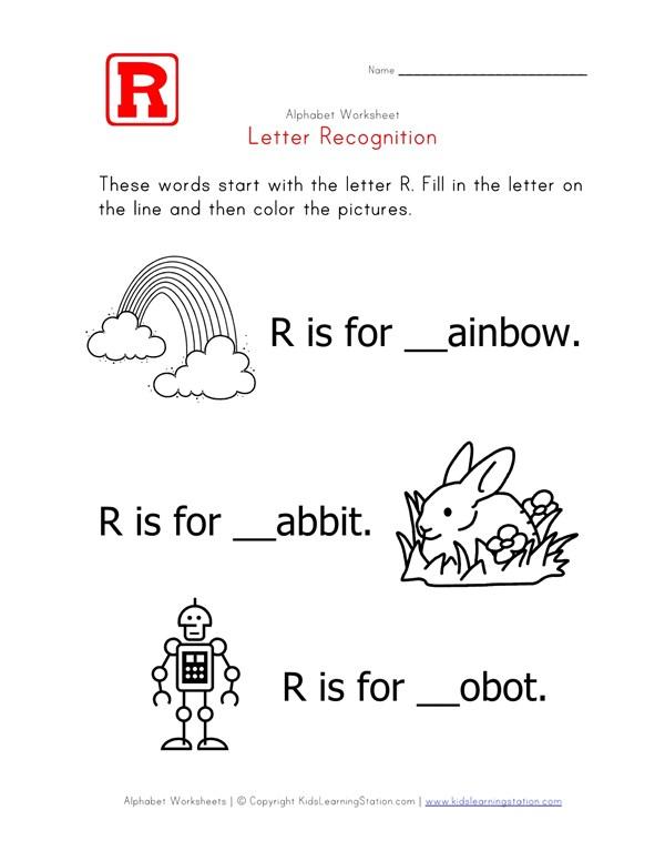 Letter R - Alphabet Recognition Worksheet | All Kids Network