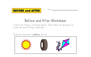 before and after worksheet