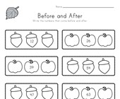 Fall Before and After Worksheet