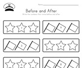 Memorial Day Before and After Worksheet