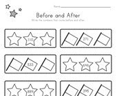 Patriotic Before and After Worksheet