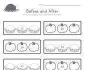 Thanksgiving Before and After Worksheet