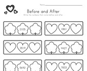 Valentine's Day Before and After Worksheet
