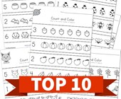 Top 10 1st Grade Count and Color Kids Activities