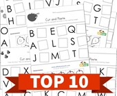 Top 10 1st Grade Cut and Paste Letter Matching Kids Activities