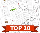 Top 10 1st Grade Worksheets by Letter Kids Activities