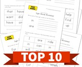 Top 10 1st Grade Write and Identify Sight Words Kids Activities