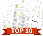 Top 10 2nd Grade Fractions Kids Activities