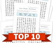 Top 10 Alphabet Word Search Printable Activities