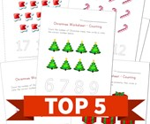 Top 5 Christmas Themed Counting Kids Activities