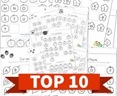 Top 10 Cut and Paste Missing Letters Kids Activities