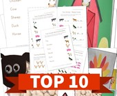 Top 10 Farm Animals Kids Activities