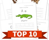 Top 10 Kindergarten Alphabet Tracing Pages Kids Activities