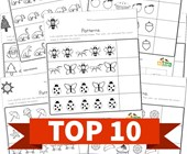 Top 10 Kindergarten Cut and Paste Patterns Kids Activities