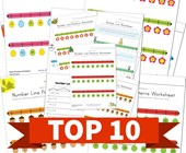 Top 10 Kindergarten Number Lines Kids Activities