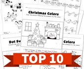 Top 10 Kindergarten Numbers 1 - 10 Kids Activities