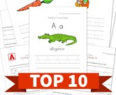 Top 10 Kindergarten Traceable Alphabet Kids Activities