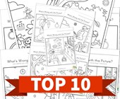 Top 10 Kindergarten What's Wrong with this Picture Kids Activities
