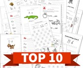 Top 10 Kindergarten Worksheets by Letter Kids Activities