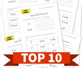 Top 10 Kindergarten Write and Identify Sight Words Kids Activities