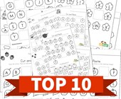 Top 10 Preschool Cut and Paste Missing Letters Kids Activities