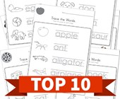 Top 10 Preschool Trace Words Kids Activities