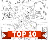 Top 10 Preschool What's Wrong with this Picture Kids Activities